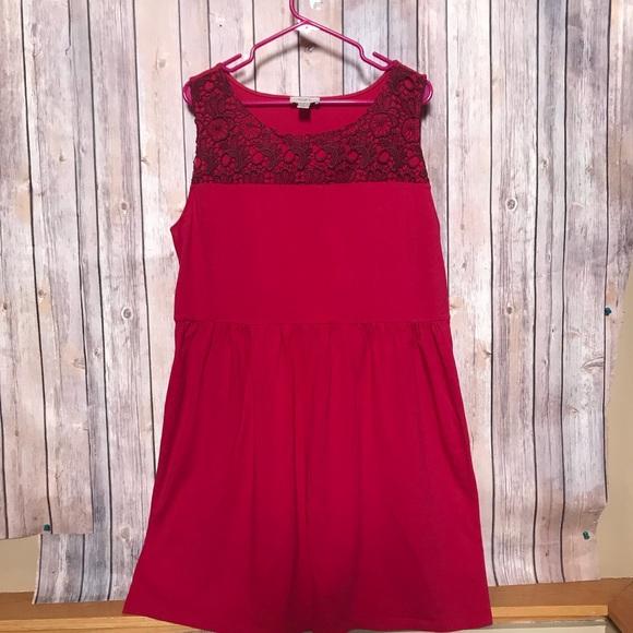 1df49fa40e5 LOFT Dresses   Skirts - LOFT Cute Bright Red bbq Summer Cotton Dress XL😎